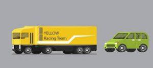 khi gặp xe container không nên bám đuôi