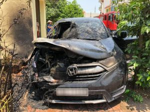 cháy xe Honda CR-V