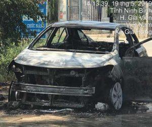 cháy xe Toyota Vios