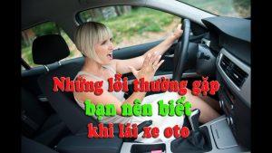 lỗi thường gặp của lái xe