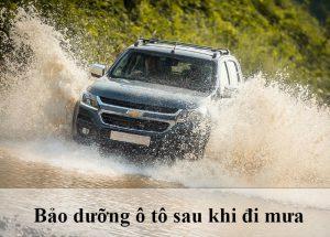 bảo dưỡng ô tô sau khi đi mưa