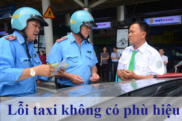 phạt taxi không có phù hiệu