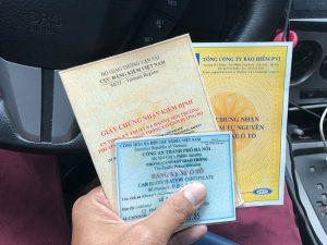 giấy tờ xe ô tô gồm những gì